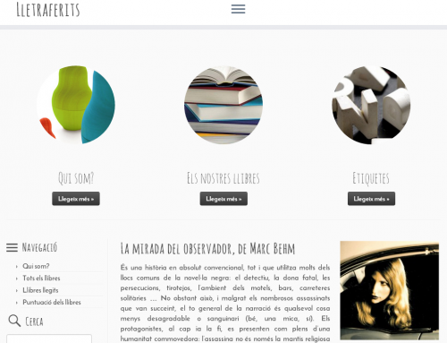 WordPress del club de lectura Lletraferits