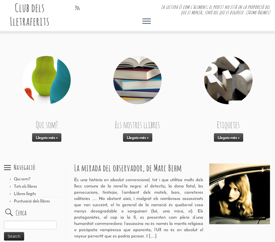 Wordpress per un club de lectura Lletraferits