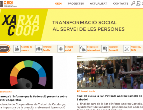 Drupal Xarxa Gedi, comunicació cooperativista