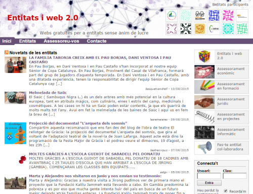 WordPress multibloc de Xarxanet per a entitats de Catalunya