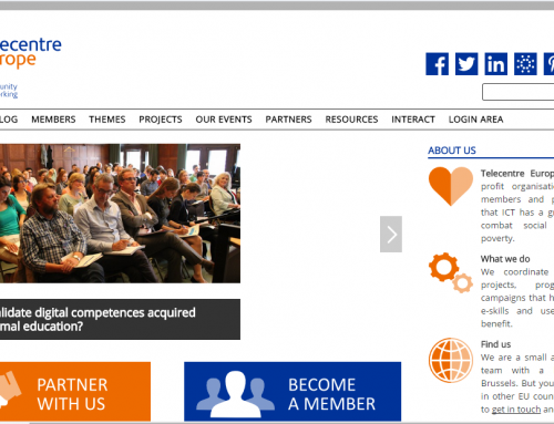 WordPress Telecentre Europe, un portal institucional