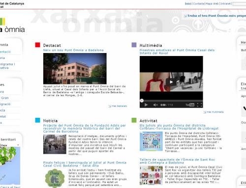 Drupal de la xarxa Òmnia, un portal comunitari de telecentres